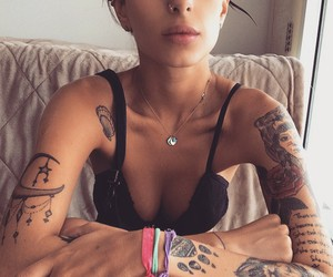 tattoo, girl, and woman image