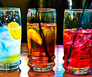 drink, summer, and blue image
