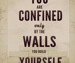 quotes, wall, and life image