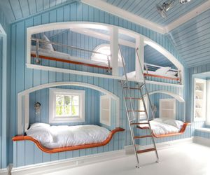 bed, bedroom, and room image