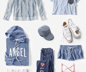 fashion, light blue, and outfit image