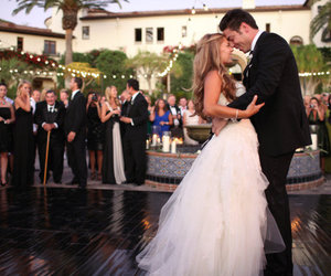 couple, wedding, and bride image