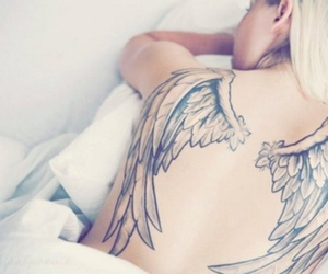 angel, tattos, and anjo image