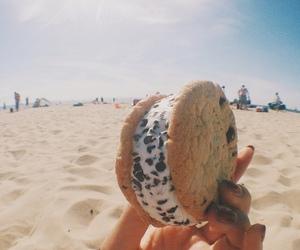 food, beach, and chocolate image