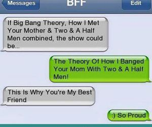 big bang, texting, and how i met your mother image