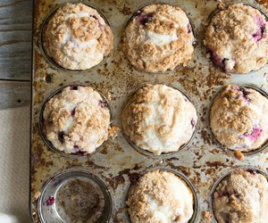 berries, muffins, and buttermilk image
