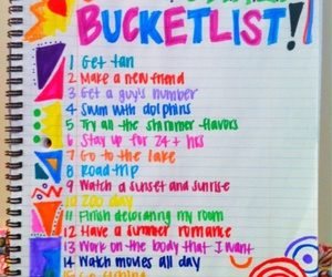 summer, list, and bucket list image