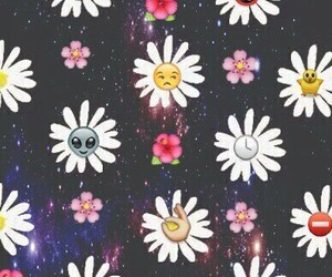 flowers, emoji, and wallpaper image