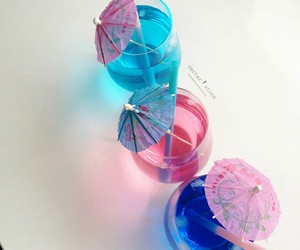 blue, drink, and pink image