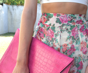 clutch, fashion, and flowers image
