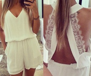 fashion, girl, and summer wear image