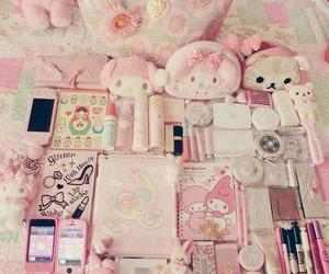 pink, kawaii, and girly image