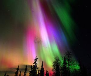 aurora, northern lights, and sky image