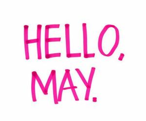 may, hello, and pink image