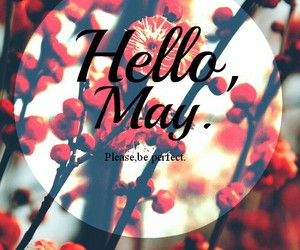 may, hello may, and spring image