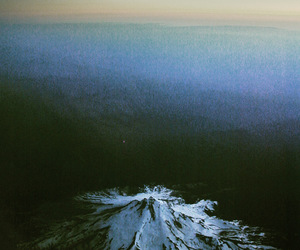 mountain, volcano, and snow image