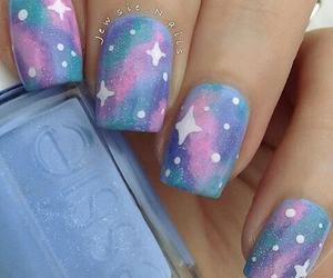 nails, galaxy, and stars image