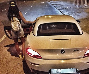 bmw, girl, and brunette image