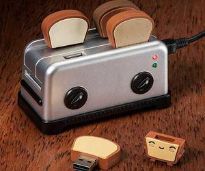 usb, toast, and toaster image