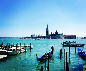 venice, girl, and italy image