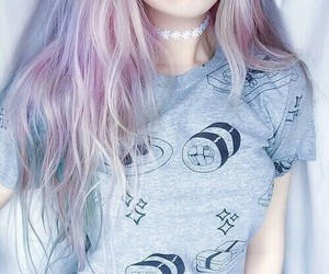 beautiful, dye, and girl image