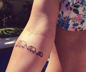 elephant, tatoo, and tattoo image