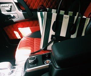 car, celine, and kylie jenner image