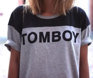 tomboy, fashion, and shirt image