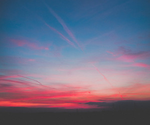 sky, sunset, and blue image