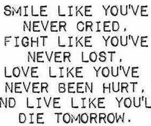quote, live, and smile image
