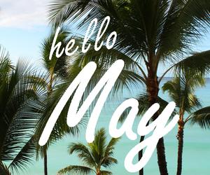 may, hello, and beach image