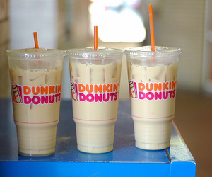 dunkin donuts, drink, and coffee image
