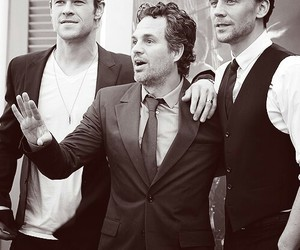 tom hiddleston, mark ruffalo, and chris hemsworth image