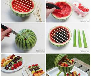 barbecue, watermelon, and diy crafts image