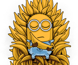 banana, minions, and game of thrones image