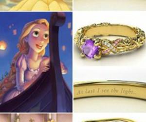 disney, rings, and princess image