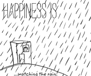 quote, rain, and happiness is image
