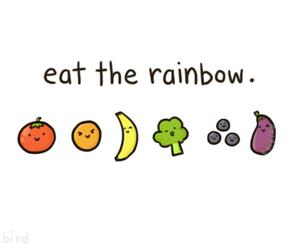 rainbow, fruit, and food image