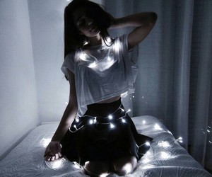 girl, light, and grunge image