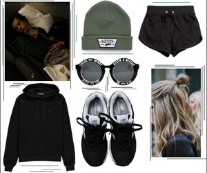 black, camp, and clothes image