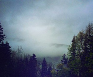 grunge, landscape, and mountains image
