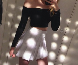 cropped, white, and fashion image