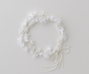 white, flowers, and crown image