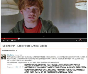 lego house, rupert grint, and ed sheeran image