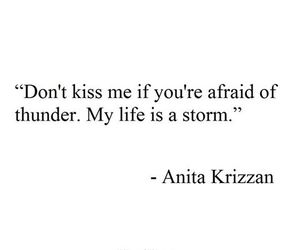storm, kiss, and quote image