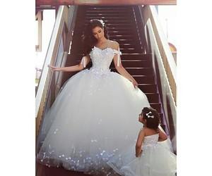 dress, wedding, and cute image