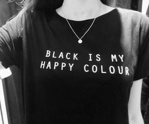 black, colour, and happy image