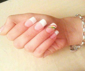 casual, nail polish, and nails image