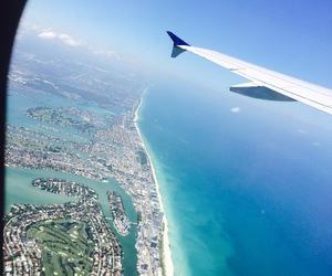 airplane, Miami, and amazing image