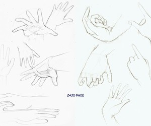 anime, hands, and reference image